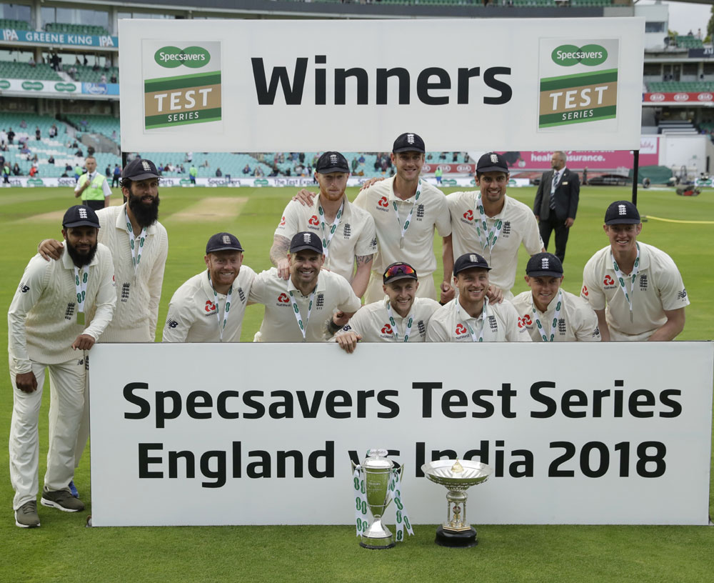 England beat India by 118 runs, win five-match Test series 4-1