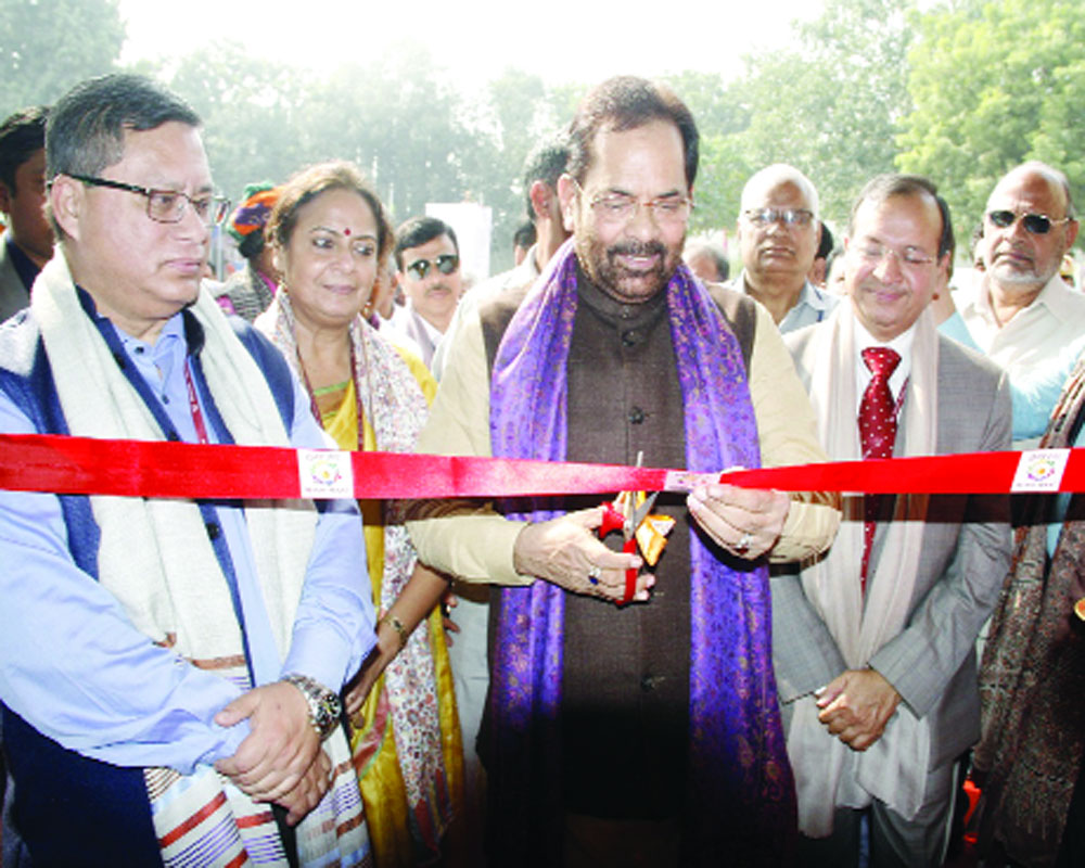 ministry of minority affairs inaugurates hunarhaat at. Black Bedroom Furniture Sets. Home Design Ideas