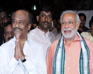 Actor Rajinikanth backs PM Narendra Modi