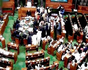 Lok Sabha adjourns till noon amid protests on Rafale, other  Issues