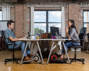 Pedal desks may reduce health risks of sedentary workplace