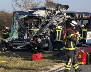School children among 40 injured in head-on crash of buses