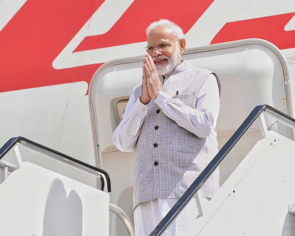 'Howdy Houston', says Modi as he lands in energy capital