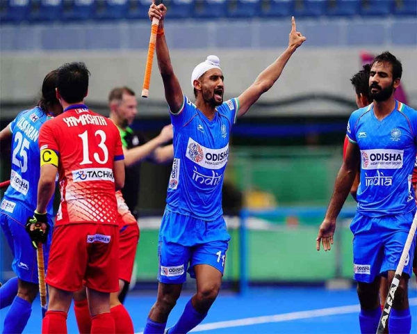 Mandeep hat-trick helps India beat Japan 6-3 and reach final in Olympic Test Event hockey