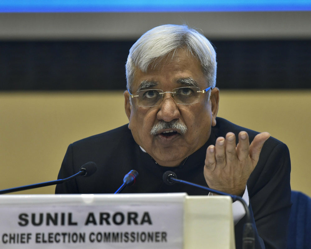 Assembly polls in four states with Lok Sabha elections but not in J&K: EC
