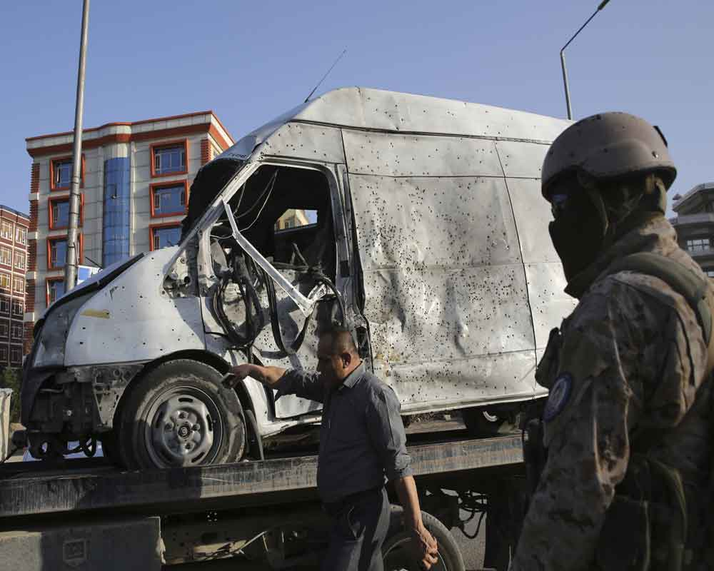 At least 34 wounded as large explosion rocks Kabul: official