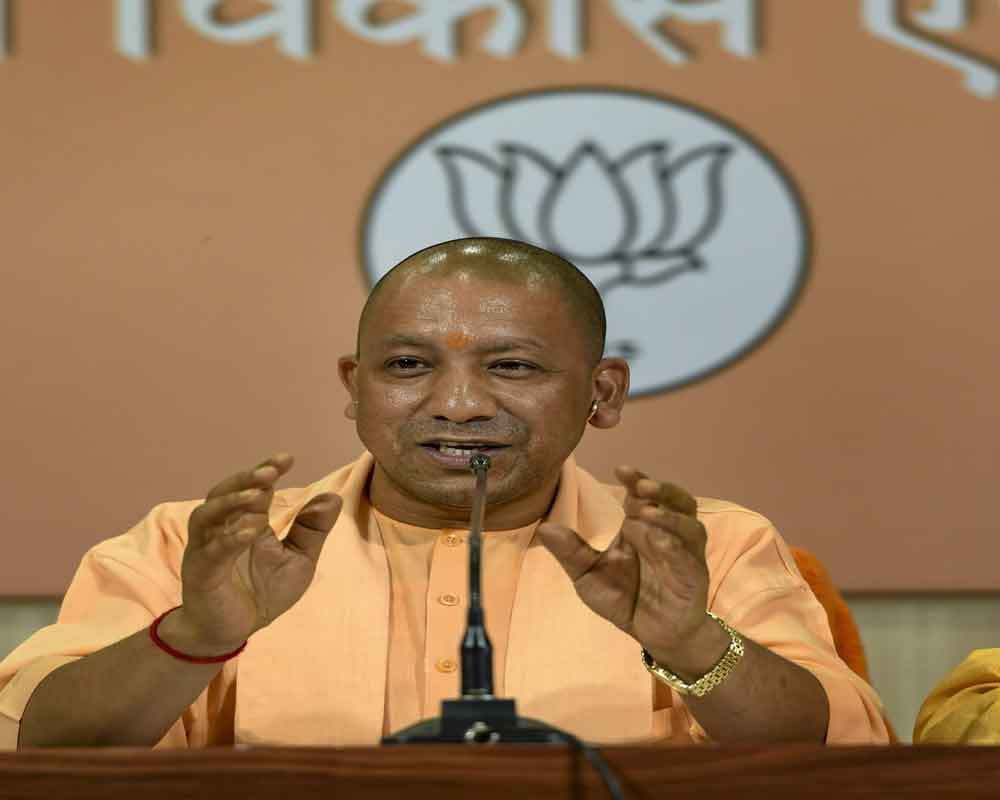 At Saharanpur rally, Adityanath terms Oppn candidate 'Azhar Masood's son-in-law'
