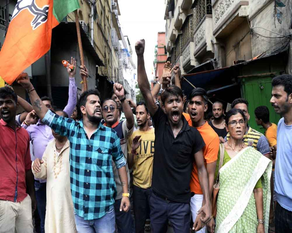 Bengal BJP to march 1 lakh supporters to Kolkata Police headquarters