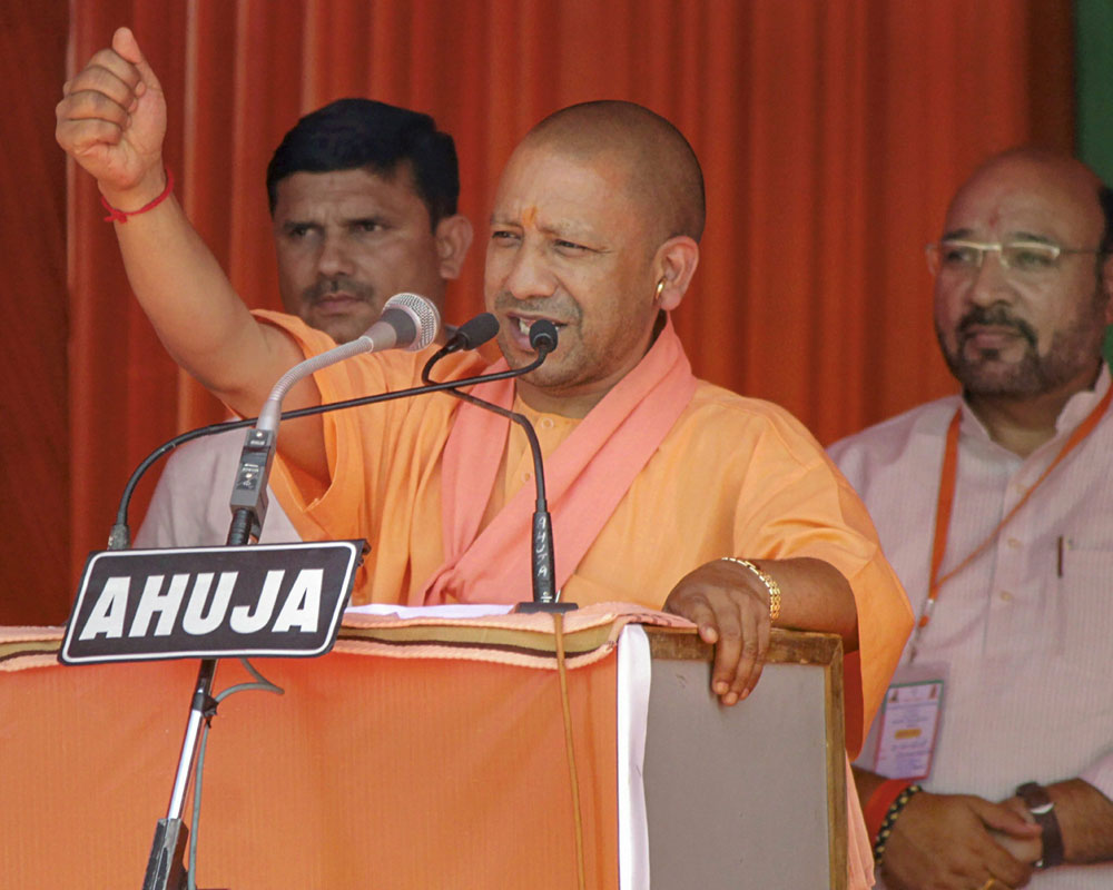 BJP has two ways of dealing with terrorists -- bullet & bomb: Adityanath
