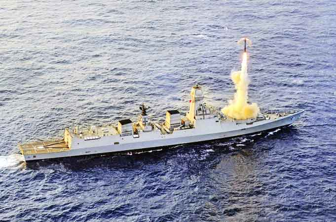 BrahMos cruise missile test-fired from INS Kochi