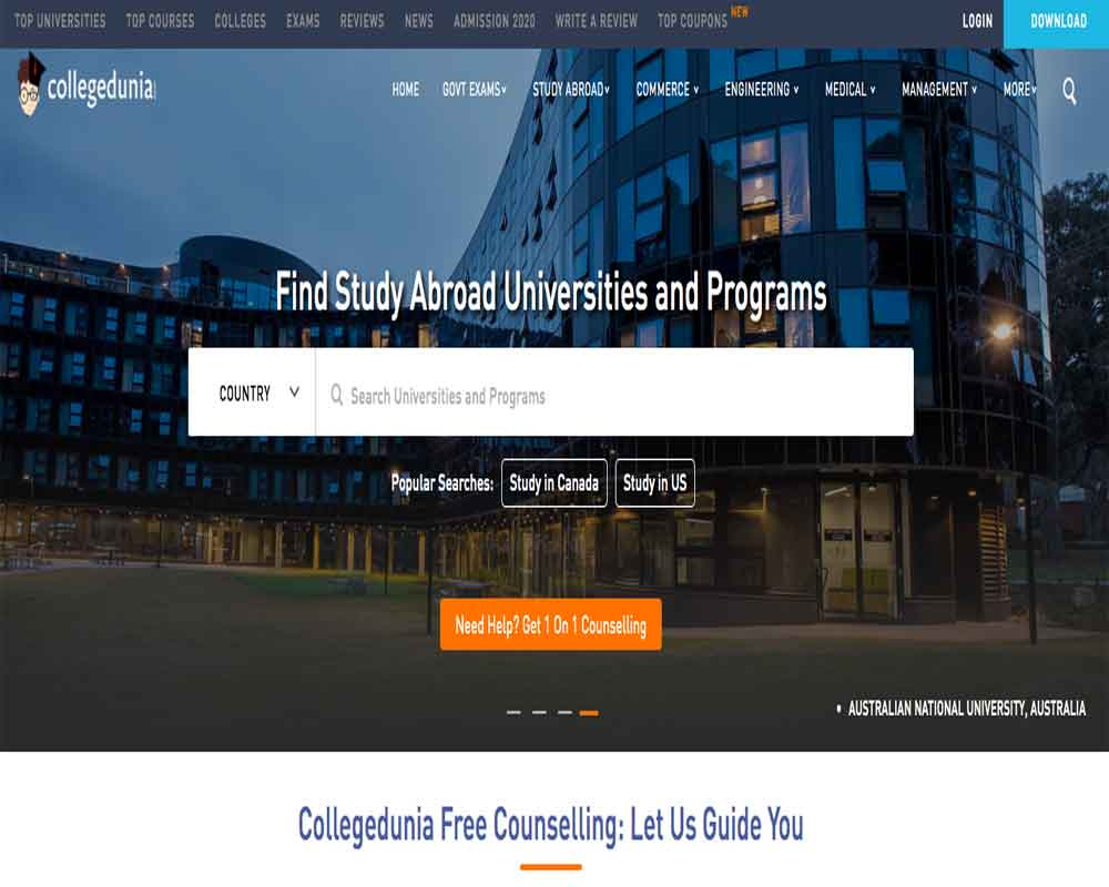 Collegedunia Goes International, Study Abroad Vertical Launched for 12 Countries