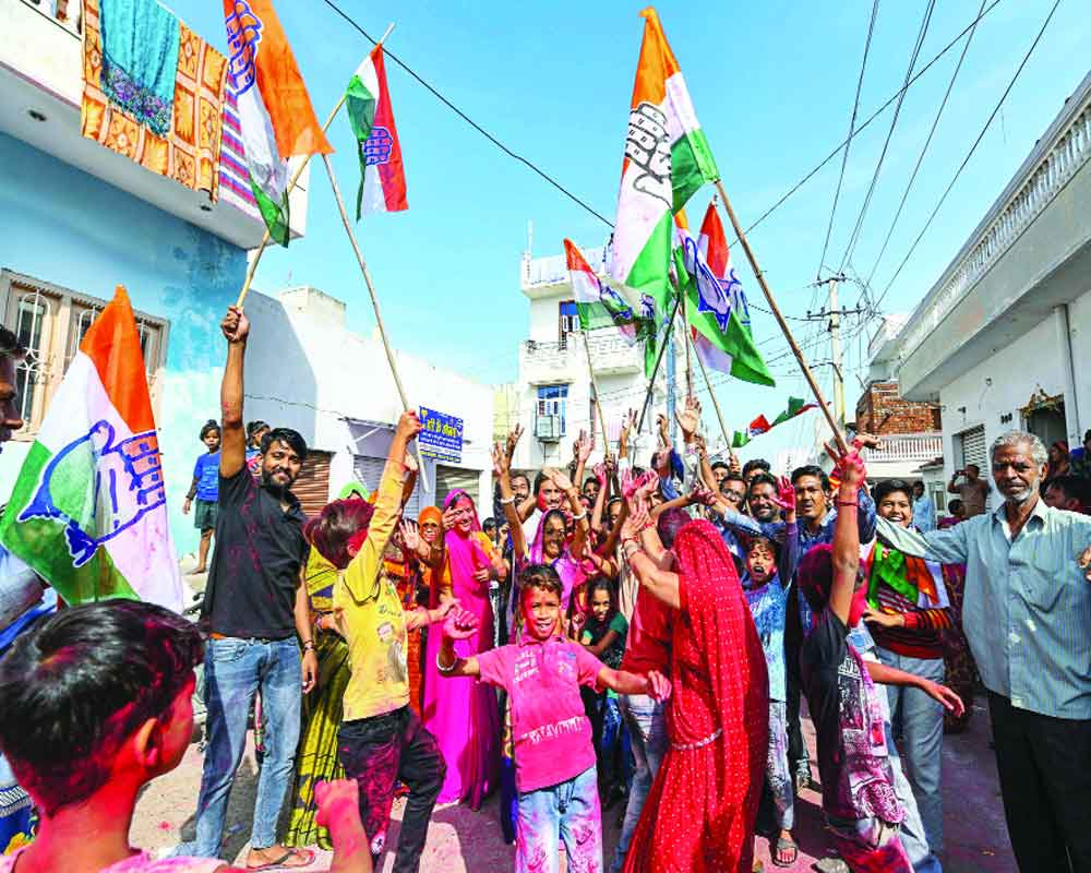 Congress dominates  results of Rajasthan urban bodies' polls