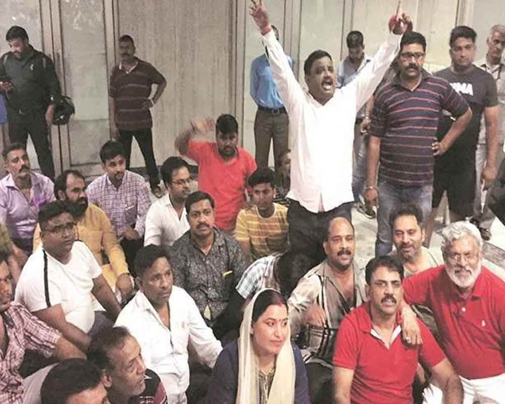 Delhi BJP's gherao at DJB office ends, police escort CEO out
