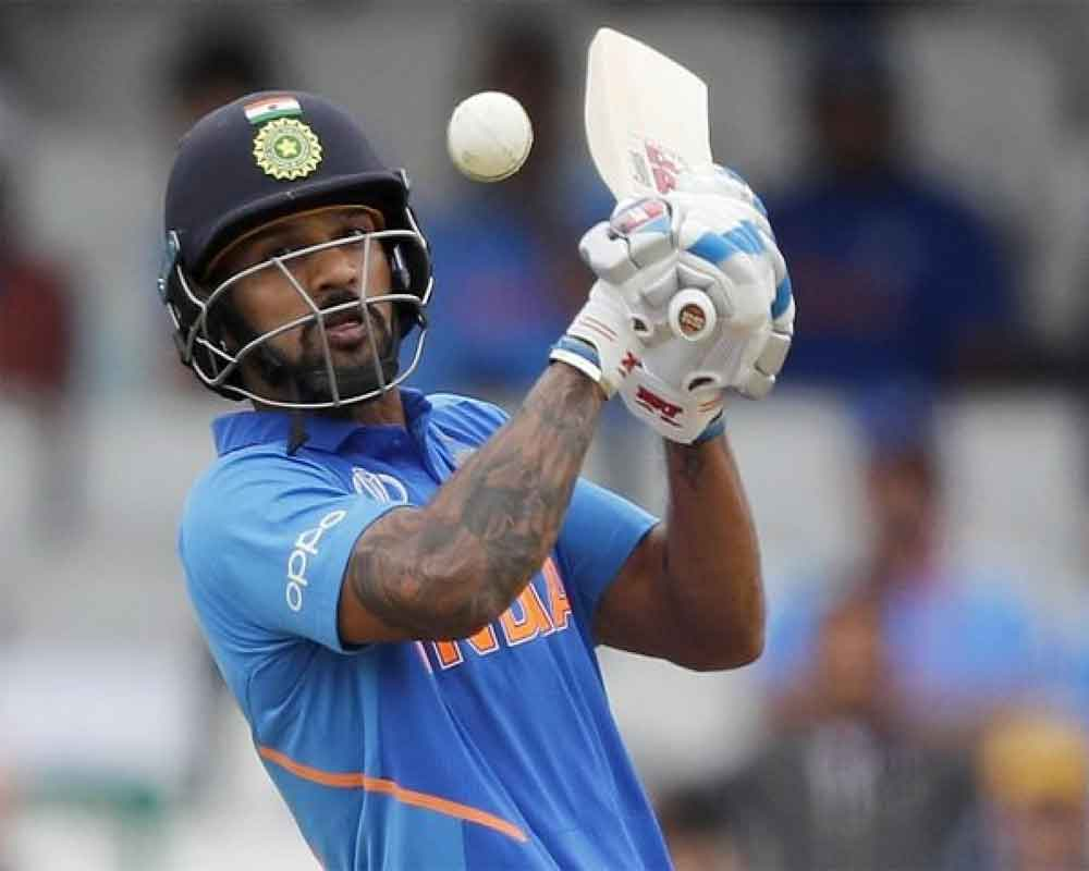 Dhawan ruled out of WC with fractured thumb