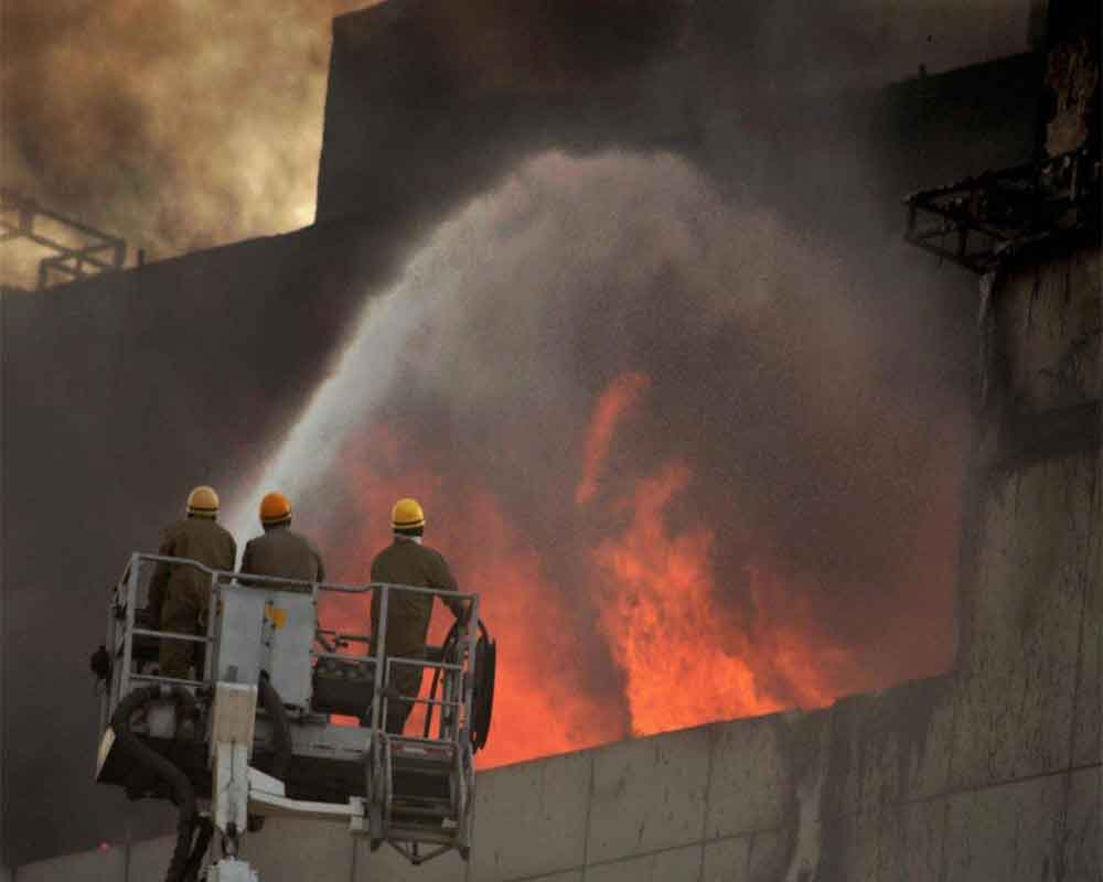 Fire breaks out in three-storey building in west Delhi