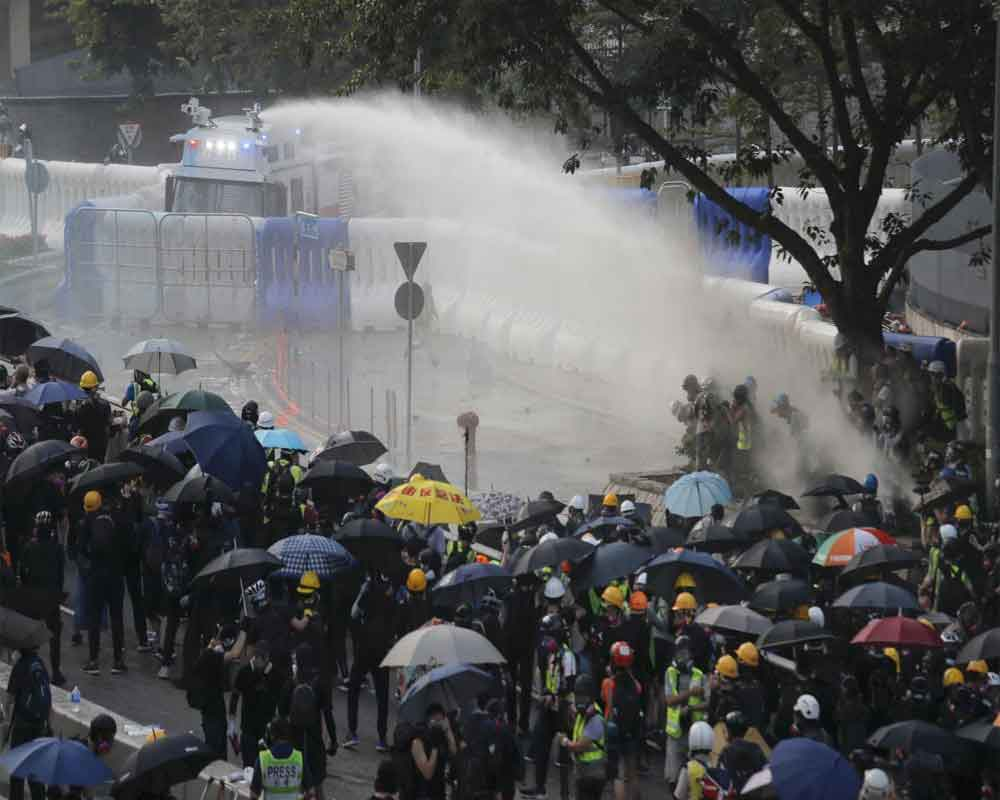 Hong Kong govt: Violence is harmful, won't solve divisions