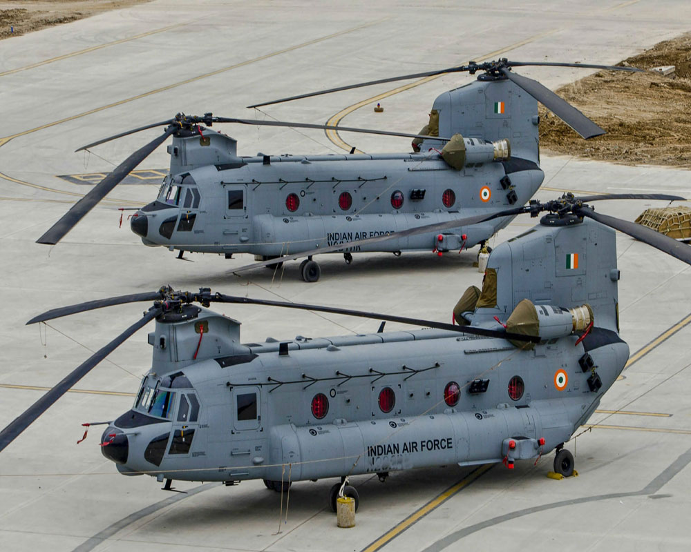 IAF inducts 4 combat-ready Chinook helicopters