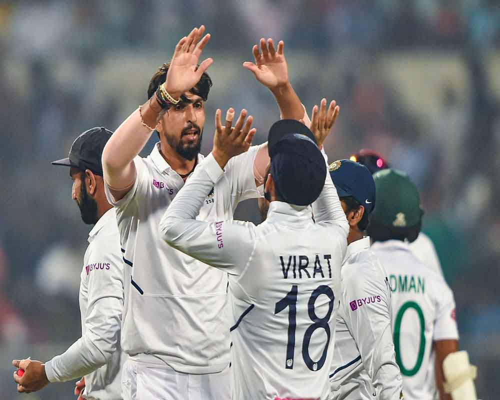India beat Bangladesh in pink ball Test to record 12th successive series win at home