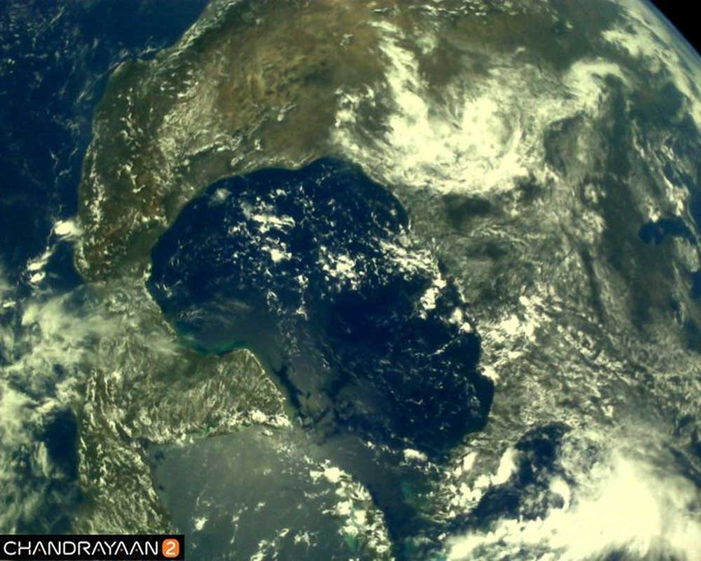 ISRO releases first set of earth pictures captured by Chandrayaan 2
