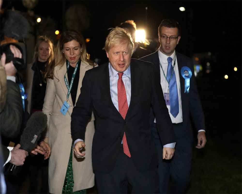 Johnson on course for huge win in UK's Brexit election: Exit poll