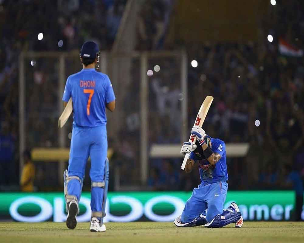 Kohli's appreciation tweet triggers speculation on Dhoni in social media