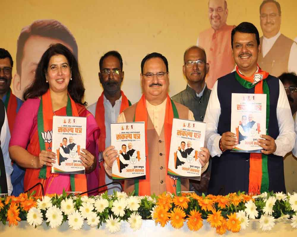 Maha BJP promises 5 cr jobs in 5 yrs, houses for all by 2022