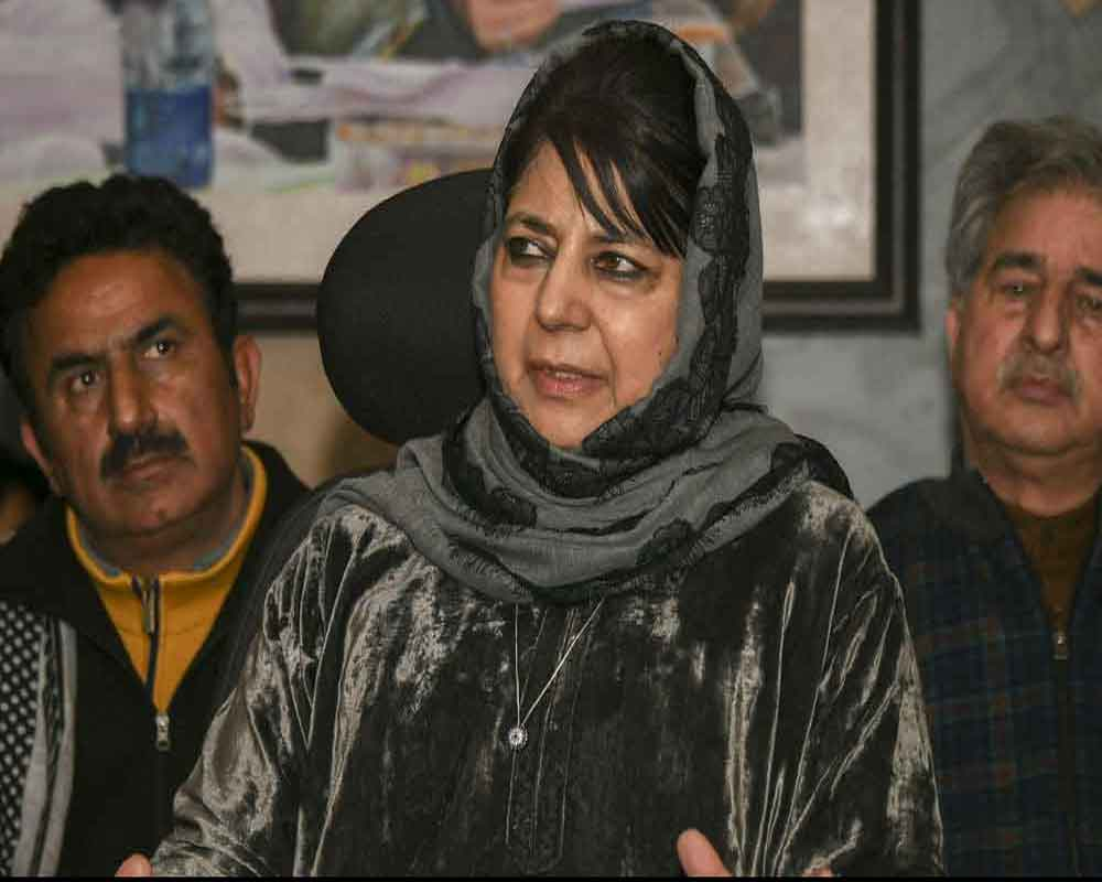 Mehbooba accuses Congress, NC of weakening Art 370