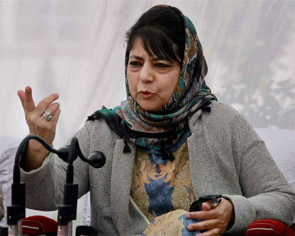 Mehbooba hits out at Omar, says J&K is not NC's personal estate