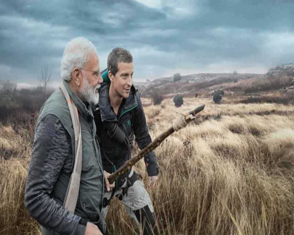 Modi walks in the wild with Bear Grylls, talks about conserving nature