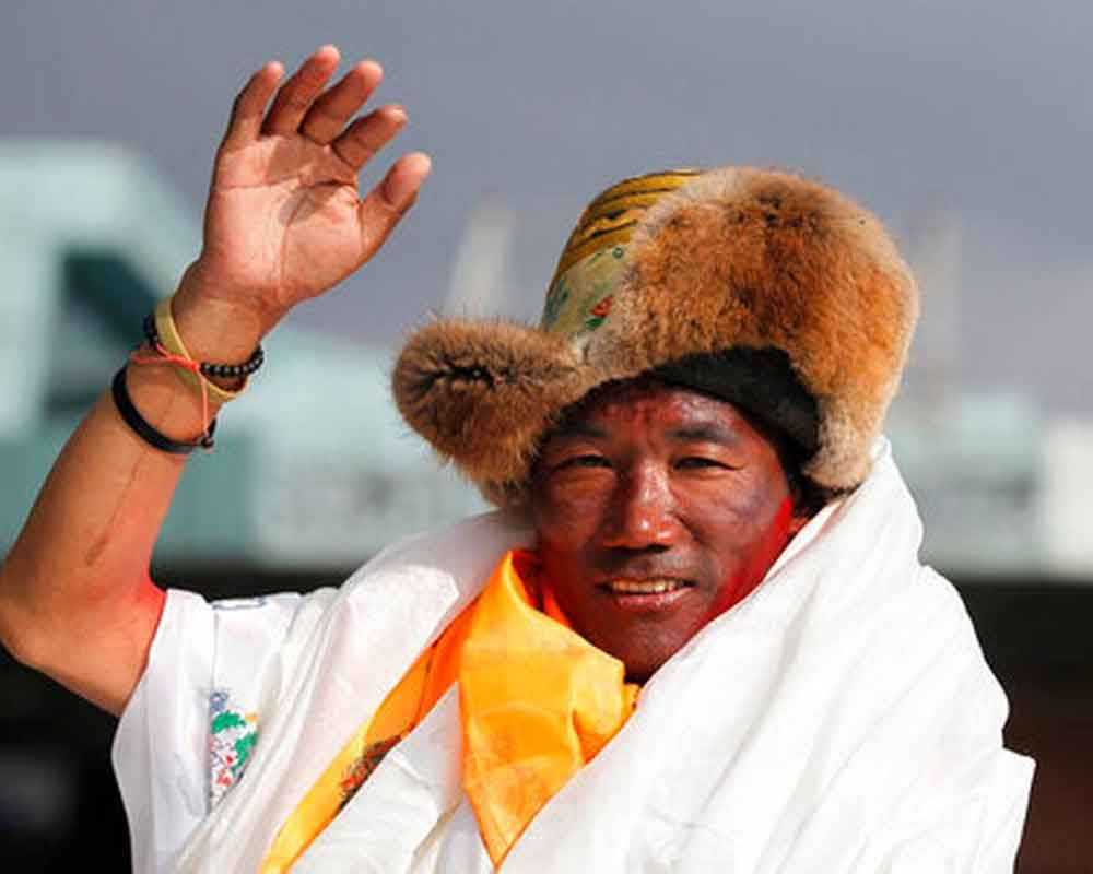 Nepali sherpa scales Mt. Everest for 23rd time; creates world record