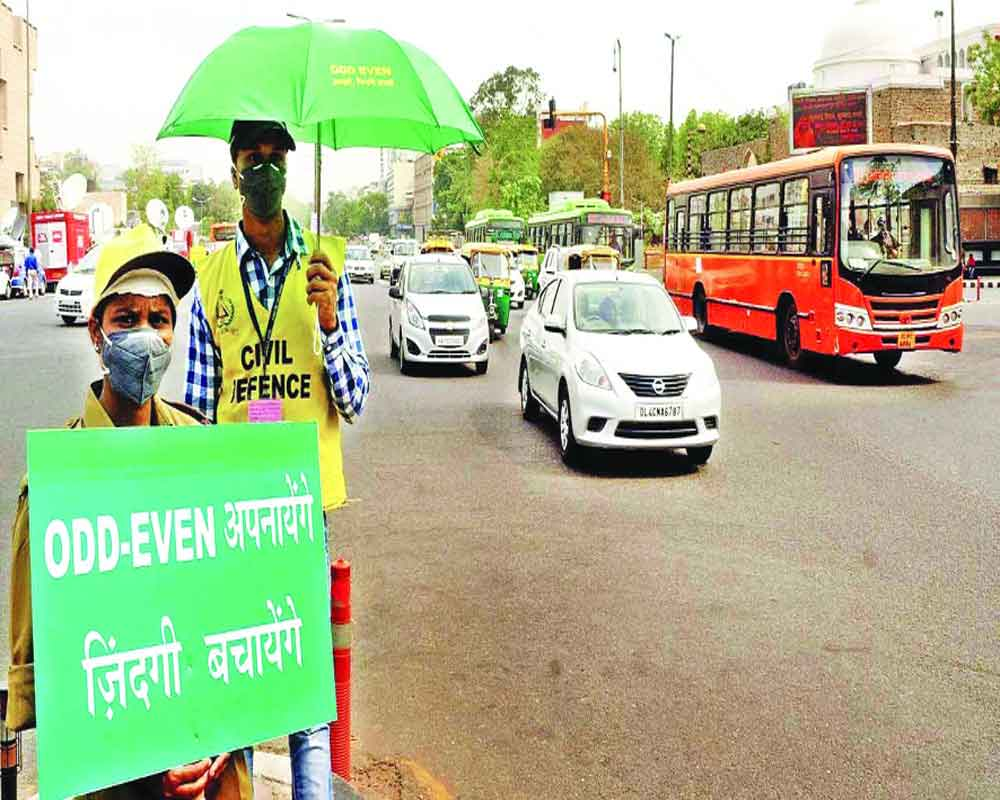 Odd-even fine doubled, no curbs on 2-wheelers