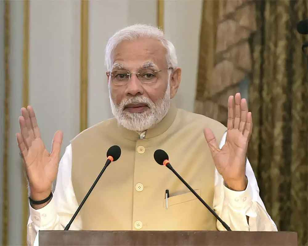 People want Modi government once again: PM