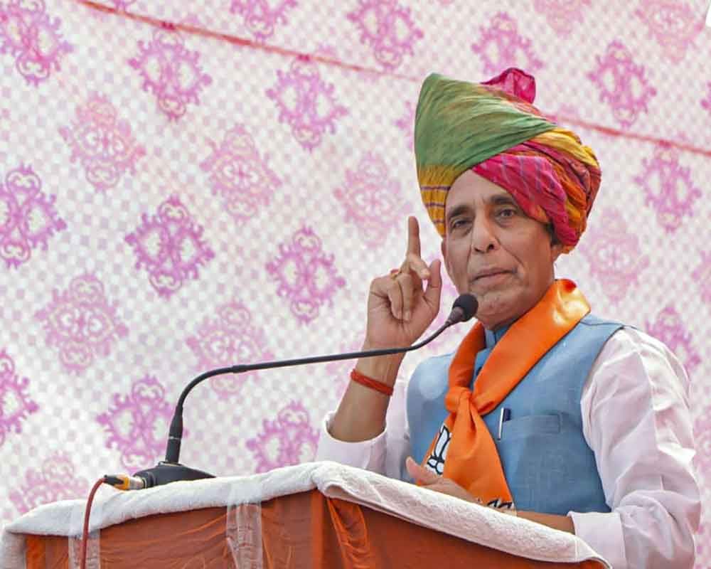 Perceptional difference on boundary issue between India, China: Rajnath Singh