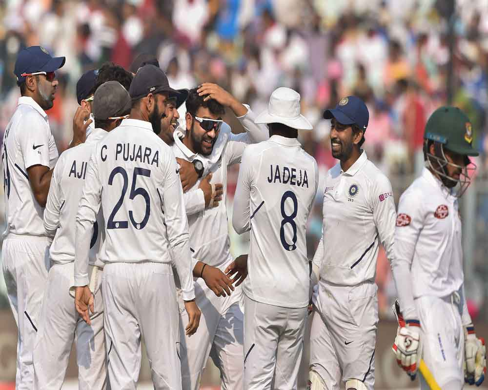 Pink Test: All-round India lord over Bangladesh, hype beats cricket hands down