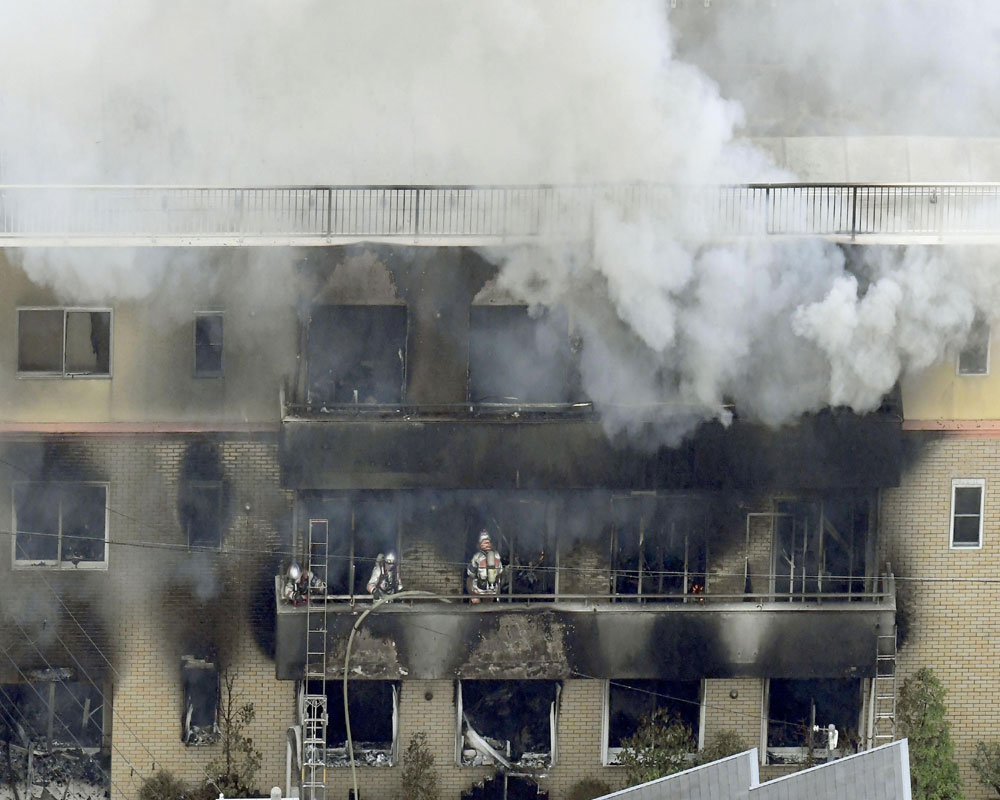 Police search Kyoto animation studio where fire killed 33
