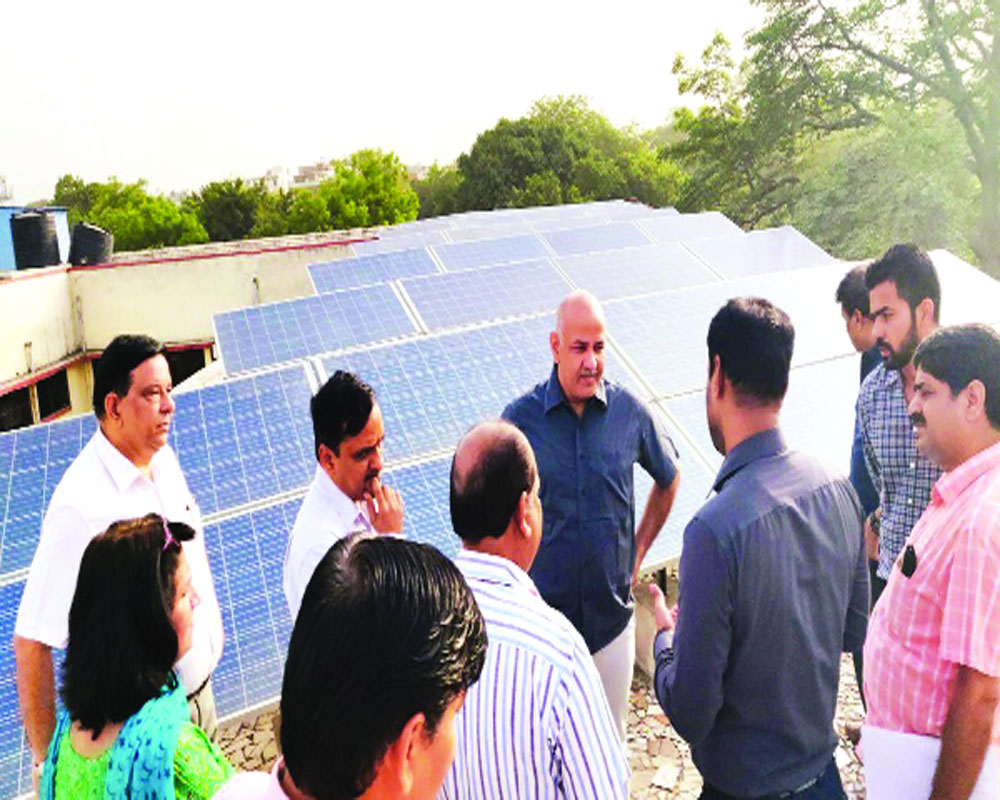 Powered by sun, Delhi Govt schools brim with surplus
