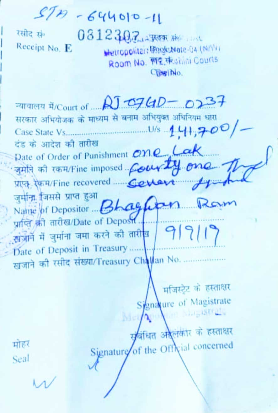 Rajasthan truck driver fined whopping Rs 1.41L in Delhi