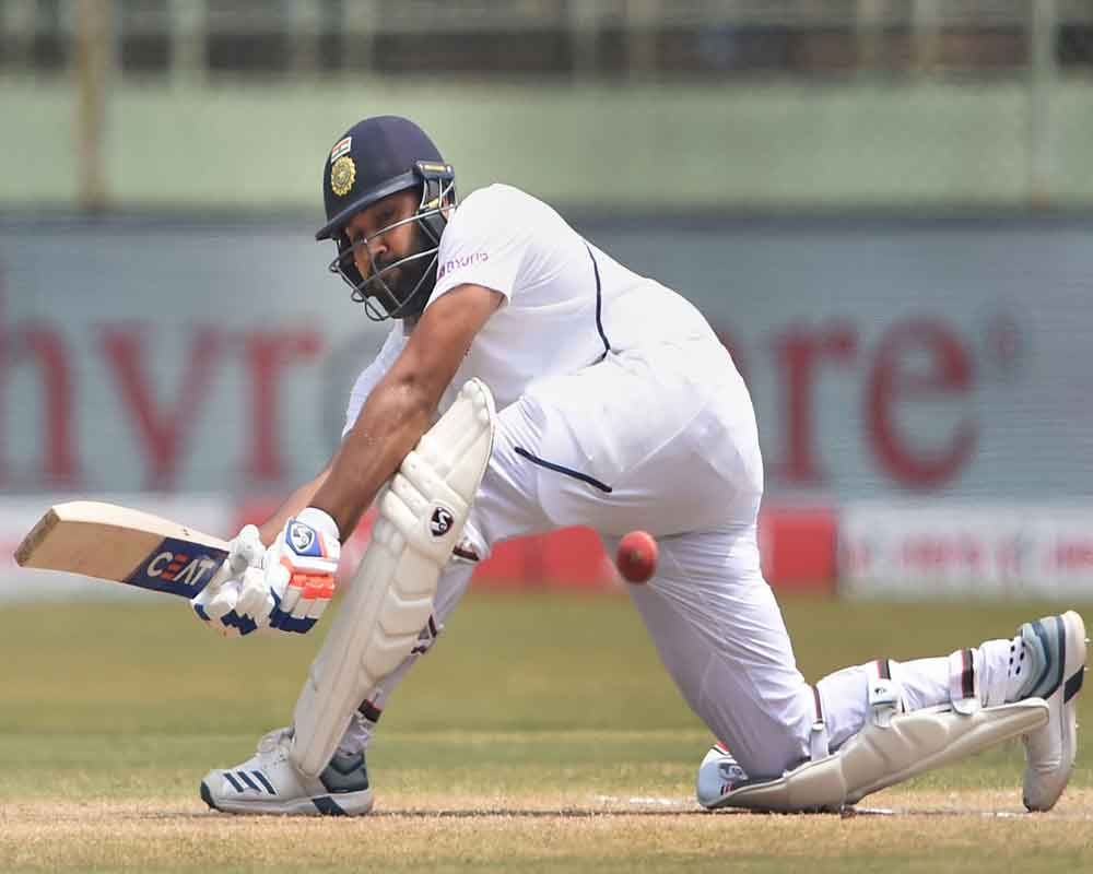 Rohit scores 2nd ton as India declare at 323/4, SA require 395 to win