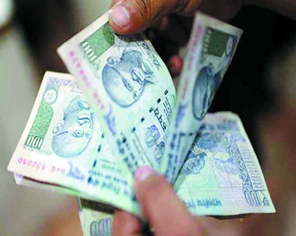 Rs spurts 20 paise to end at 7-month high
