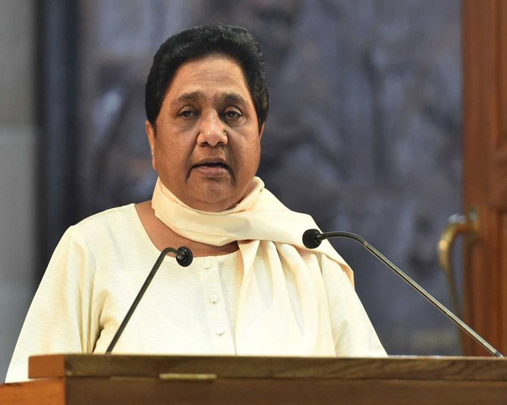 RSS-BJP don't want the poor to progress, claims Mayawati