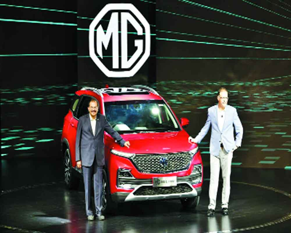 SAIC unveils MG Hector in India