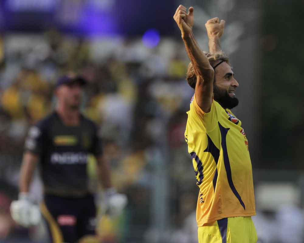Sensational Tahir four-for derails KKR to 161/8
