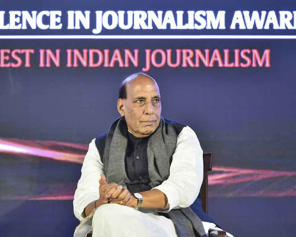 Sensationalism of news is insult to journalism: Rajnath