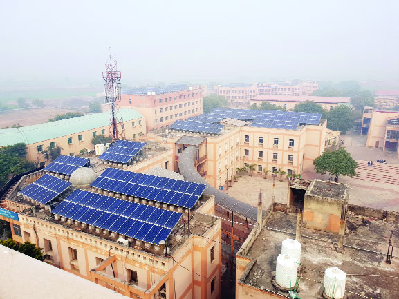 Solar powered campus at PDM University