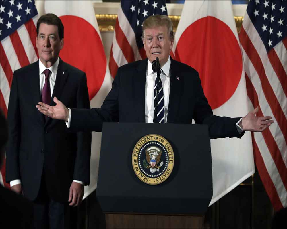 Trump urges fairer trade with Japan at start of state visit