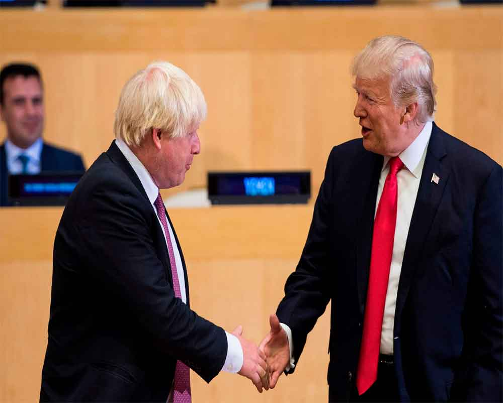 Trump backs Johnson as 'right man' for Brexit