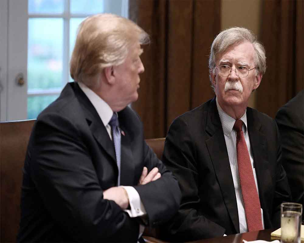 Trump says fired adviser Bolton 'tough' but not 'smart'