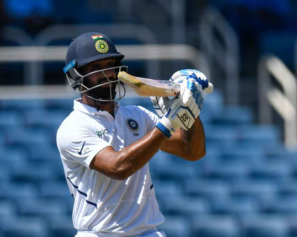 Vihari in fray for maiden ton as India reach 336/7 at lunch on Day 2