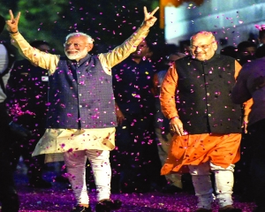 Anti-BJP forces bite dust,  party betters its 2014 feat