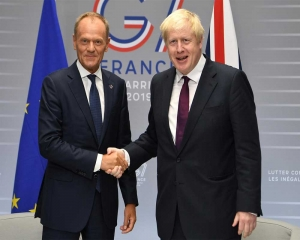 EU's Tusk, PM Johnson to hold Brexit talks Monday in New York